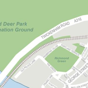 Richmond Park in London Nearby hotels shops and restaurants