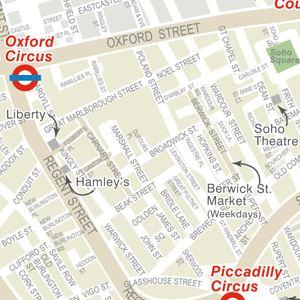 Nearest tube  underground  station to Liberty of London Soho